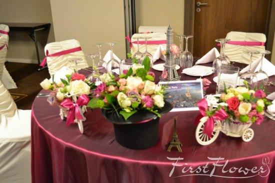 Decor Floral Prezidiu Nunta Joben Cu Lalele Trandafiri Si