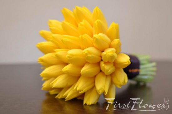 Nasa Buchet Nunta Cu Lalele Galben Intens First Flower