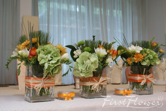 Decor prezidiu nunta restaurant mc monis first flower