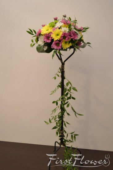 Suport flori fier forjat nunta