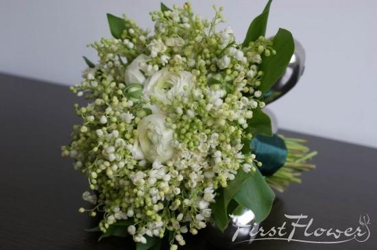 Buchet Mireasa Margaritar Si Ranunculus Alb First Flower